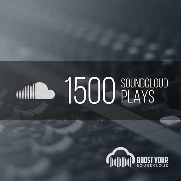 1,500 Soundcloud Plays
